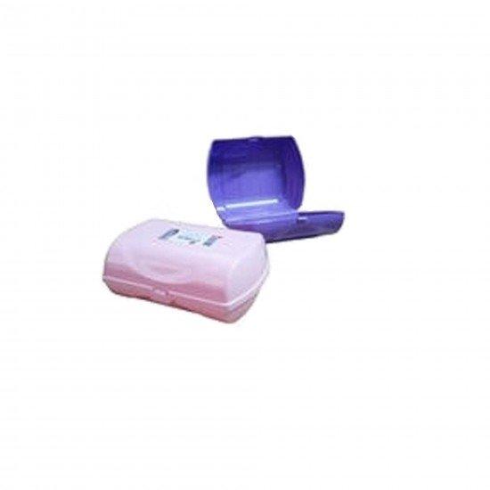Zambak Plastik Sabun Saklama Kutusu Kapaklı