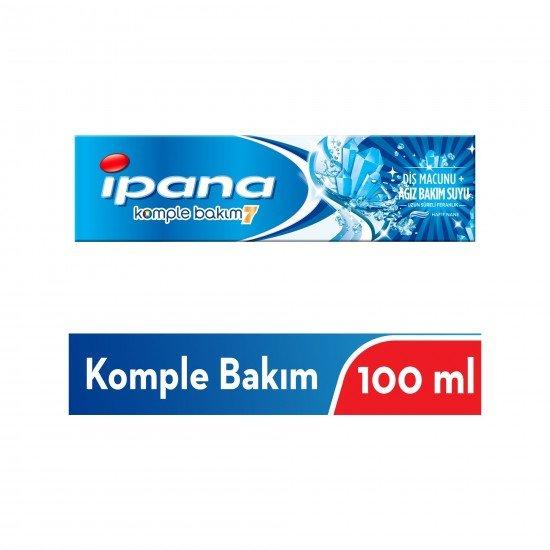 Ipana Komple Bakım Diş Macunu + Ağız Bakım Suyu Uzun Süreli Ferahlık Hafif Nane 100 ml