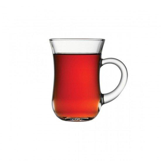 Paşabahçe Keyif 6Lı Kulplu Çay Bardağı 140cc (55411)