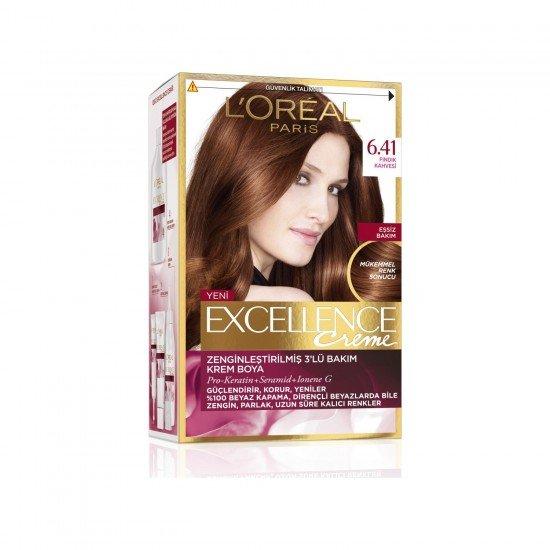 loreal Paris Excellence Creme Saç Boyası 6.41 Fındık Kahvesi