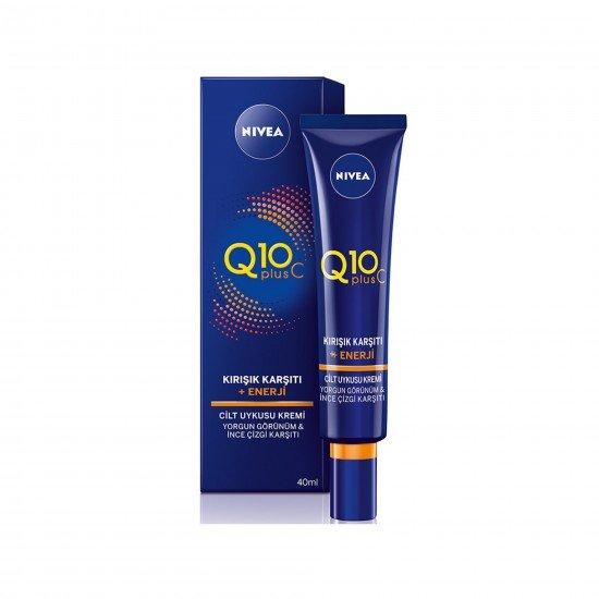 Nivea Q10 Plus C Kırışık Karşıtı + Enerji Cilt Uykusu Gece Kremi 40 ml
