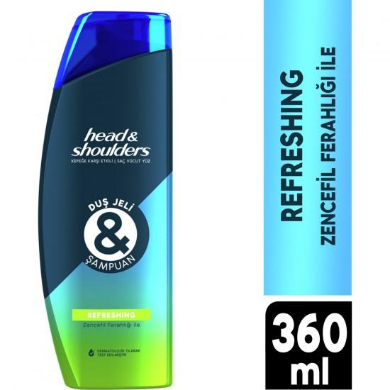 Head & Shoulders Duş Jeli ve Şampuan Refreshing 360 ml