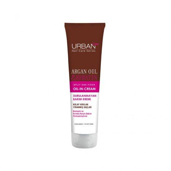 Urban Care Argan Yağı ve Keratin İçeren Besleyici ve Kırılma Karşıtı Durulanmayan Saç Bakım Kremi 150 ml