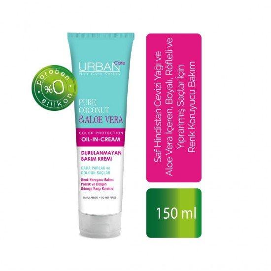 Urban Care Saf Hindistan Cevizi Yağı ve Aloe Vera İçeren Renk Koruyucu Durulanmayan Bakım Kremi 150 ml