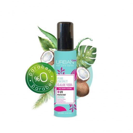 Urban Care Saf Hindistan Cevizi Yağı ve Aloe Vera İçeren Renk Koruyucu Saç Bakım Serumu 75 ml
