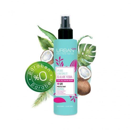 Urban Care Saf Hindistan Cevizi Yağı & Aloe Vera İçeren Renk Koruyucu Sıvı Saç Bakım Kremi 200 ml