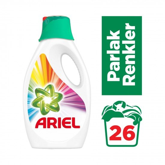Ariel Sıvı Çamaşır Deterjanı Parlak Renkler - 26 Yıkama 1,69 lt