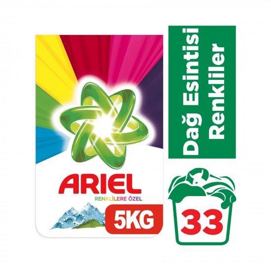Ariel Toz Çamaşır Deterjanı Dağ Esintisi Renkliler İçin 5 kg