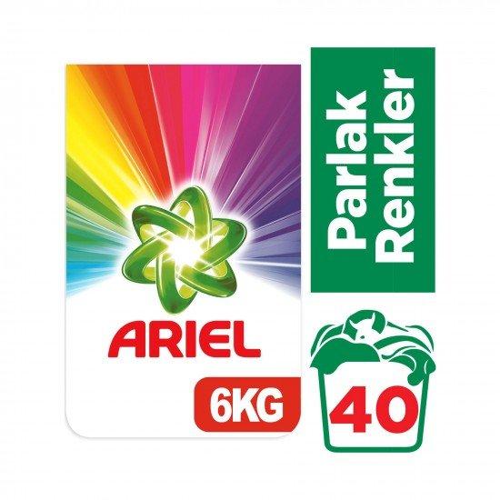 Ariel Toz Çamaşır Deterjanı Parlak Renkler 6 kg 40 Yıkama