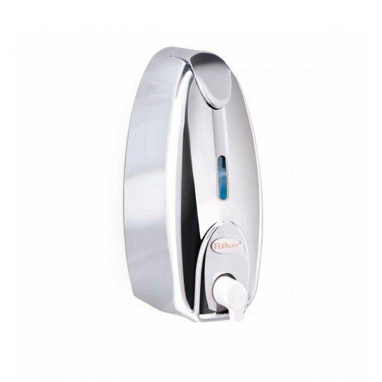 Flosoft Pratik Kapaklı Krom Köpük Verici Dispanser 500 ML