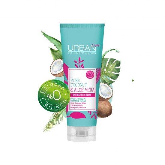 Urban Care Saf Hindistan Cevizi Yağı ve Aloe Vera İçeren Renk Koruyucu Saç Bakım Kremi 250 ml